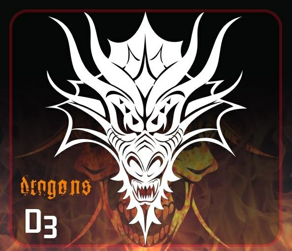 dragon stencil templates