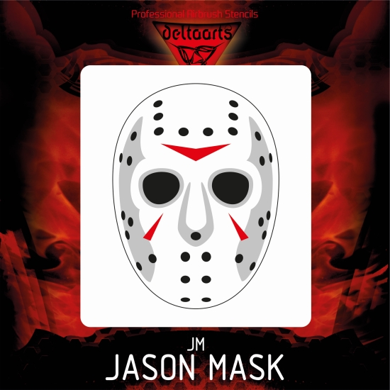 Airbrush Stencil Template Jason Mask Jason Voorhees 4 Sizes Mini Mid